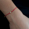Braided Diamond Friendship Bracelet -Red String - Vivien Frank Designs