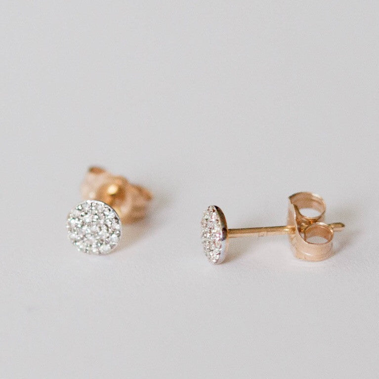 Pave Diamond Stud Earrings - Vivien Frank Designs