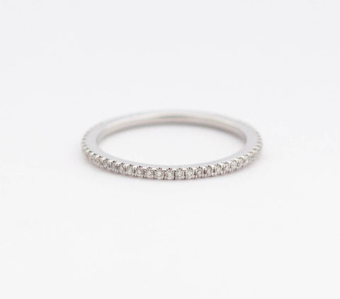 White Diamond Eternity Band in 18k White Gold
