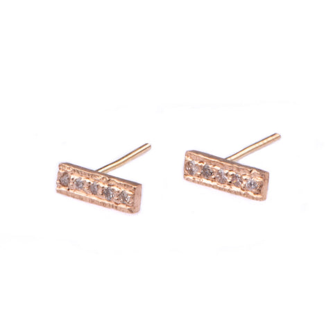 Diamond Bar Earring Stud