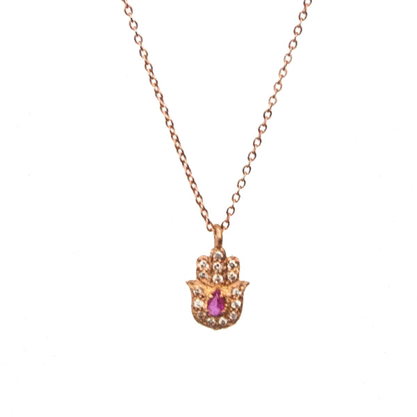 Gold Hamsa Necklace - Vivien Frank Designs
