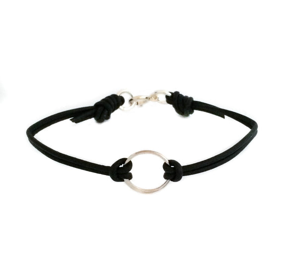 Leather Circle Bracelet - Vivien Frank Designs