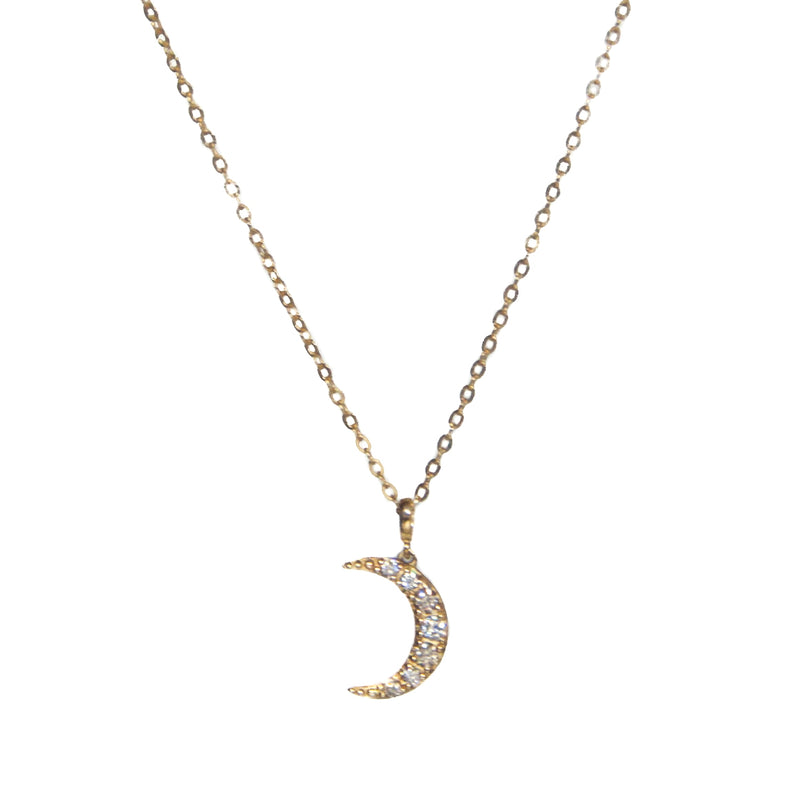 Crescent moon necklace - Vivien Frank Designs