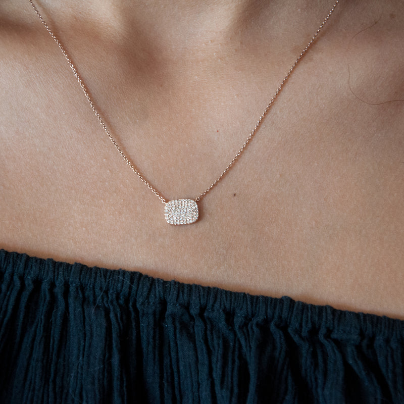Diamond Pave Pendant Necklace - Vivien Frank Designs