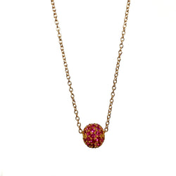 Ruby Ball Necklace in 14k gold