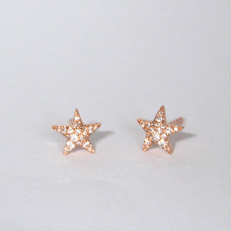 Diamond Star earrings - Vivien Frank Designs