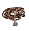 Long Mala diamond tassel necklace - Vivien Frank Designs