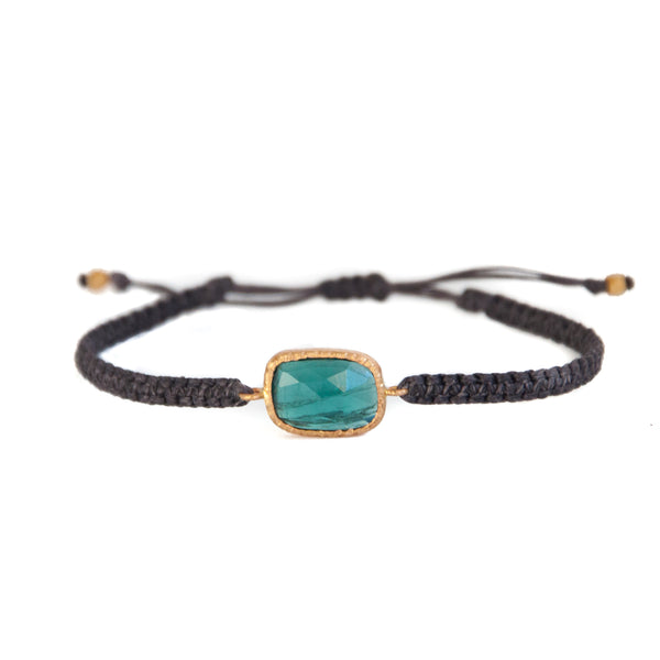 14k Gold Green Tourmaline Bracelet