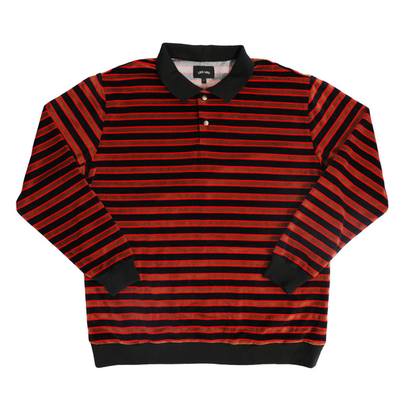 Velour Long Sleeve Polo
