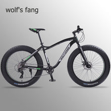Load image into Gallery viewer, Wolf's fang new Bicycle Mountain bike 26 inch Fat Bike 8 speeds Fat Tire Snow Bicycles Man bmx mtb road bikes free shipping
