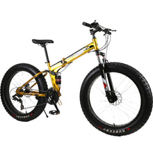 Load image into Gallery viewer, KUBEEN Mountain Bike Super WideTire Bike Snowmobile ATV 26 * 4.0 Bicycle 7/21/24/27 Speed Shock Absorbers Bike