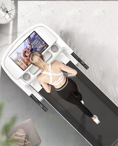 A5 10.1 inch Large Display Screen Electric Foldable Mini Treadmill Sit-Up Function Support WIFI Mute Indoor Fitness Equipment