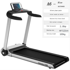 Indoor gym fitness equipment multi-function pedometer treadmill large weight hand folding fitness machine for home use