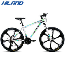 Load image into Gallery viewer, HILAND 26 inch 21 Speed Aluminum Alloy Suspension Bike Double Disc Brake Mountain Bike Bicycle with Service and Free Gifts