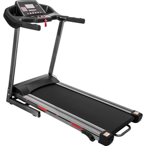 2020 Indoor Treadmill Black Electric Folding Treadmill with Wide Running Belt Large LCD Panel and 9 Built-in Programs
