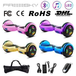 6.5  Hoverboard E-Scooter Smart  E-board Bluetooth & Bag & Motor Light  Chorme Surface Self Balancing Scooter  Electric Scooter