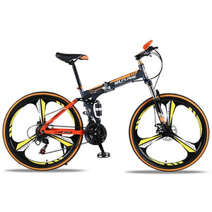 "wolf's fang  Bicycle folding Road Bike 21 speed 26""inch mountain bike brand bicycles  Front and Rear Mechanical Disc Brake bike"