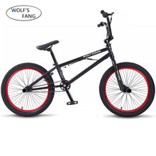 Load image into Gallery viewer, wolf's fang 20Inch BMX steel frame Performance Bike purple/red tire bike for show Stunt Acrobatic Bike rear Fancy street bicycle