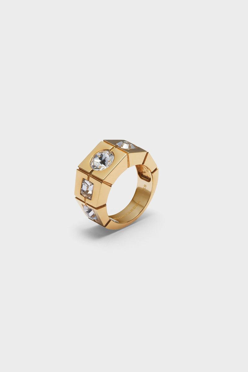 5 STONES RING (GOLD)