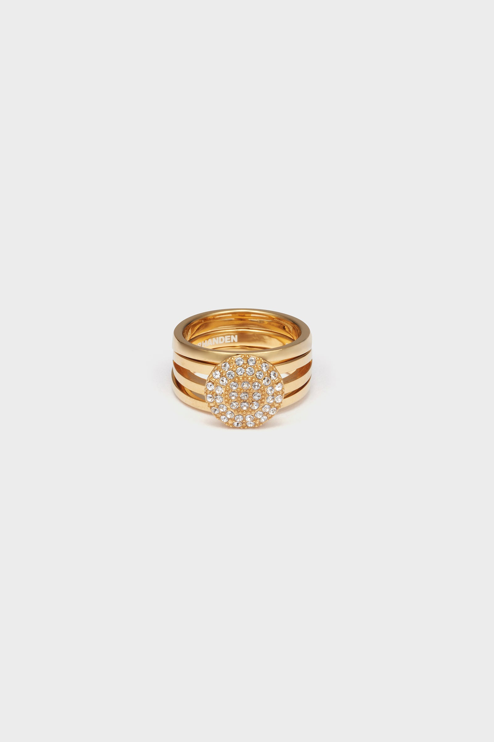 STONE DETACHABLE RING (GOLD)