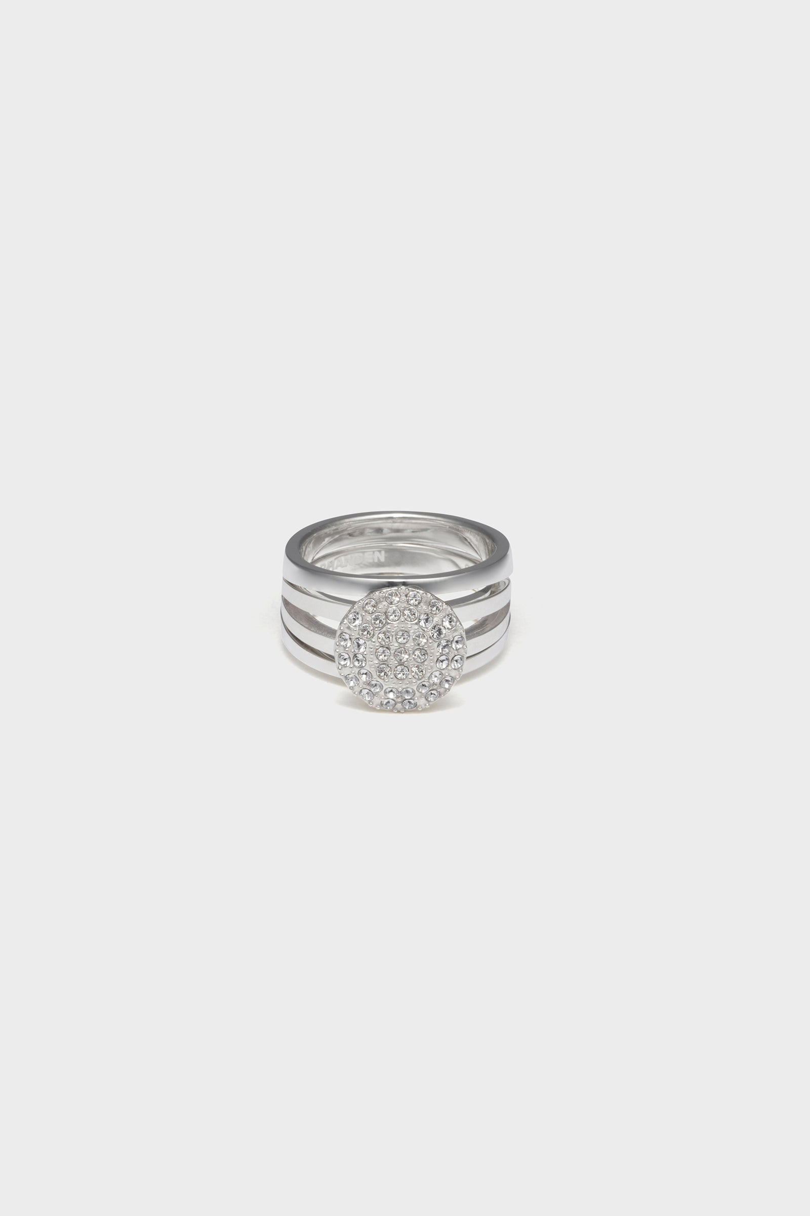 ANVORHANDEN STONE DETACHABLE RING (SILVER)