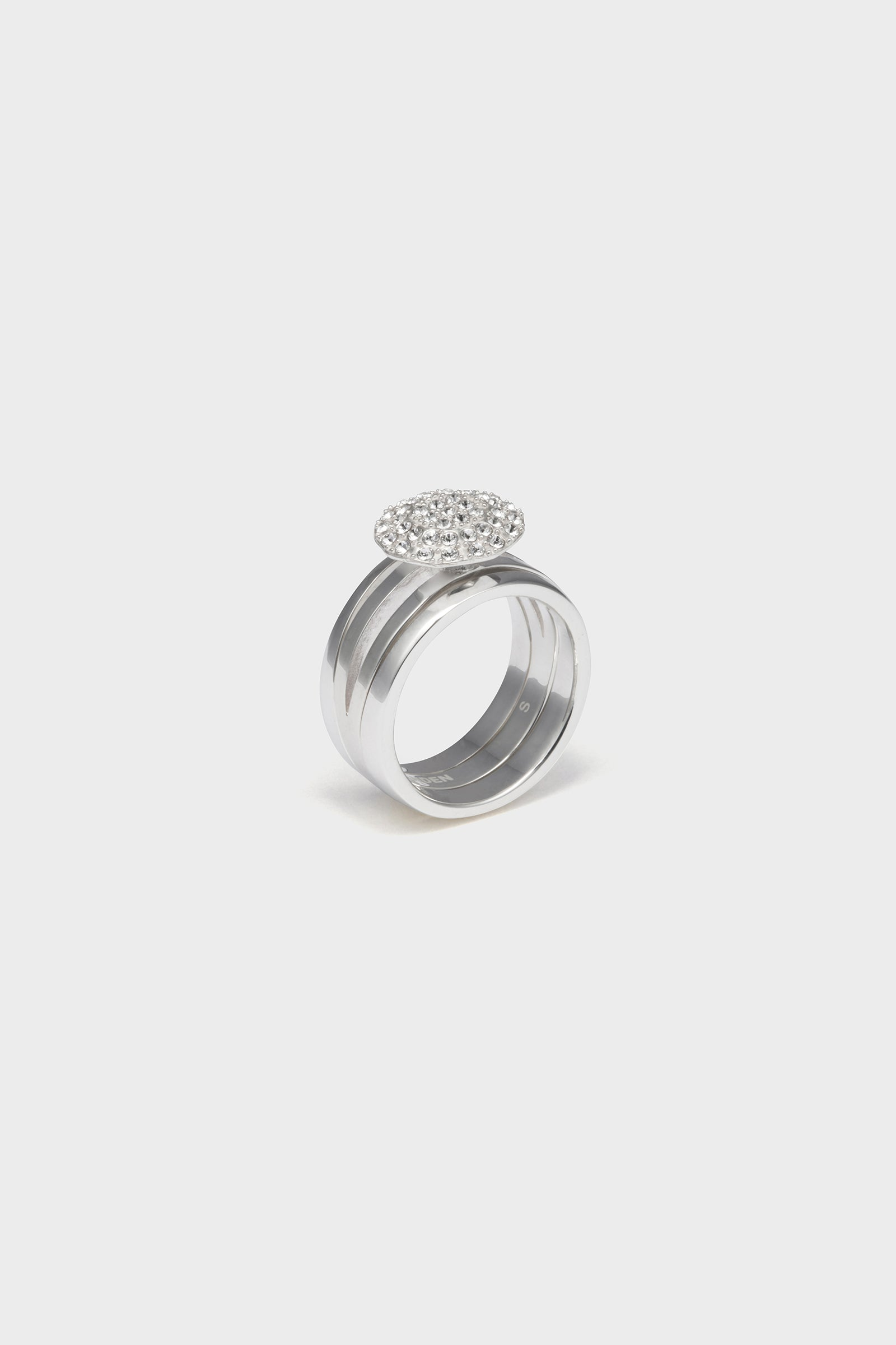 STONE DETACHABLE RING (SILVER)