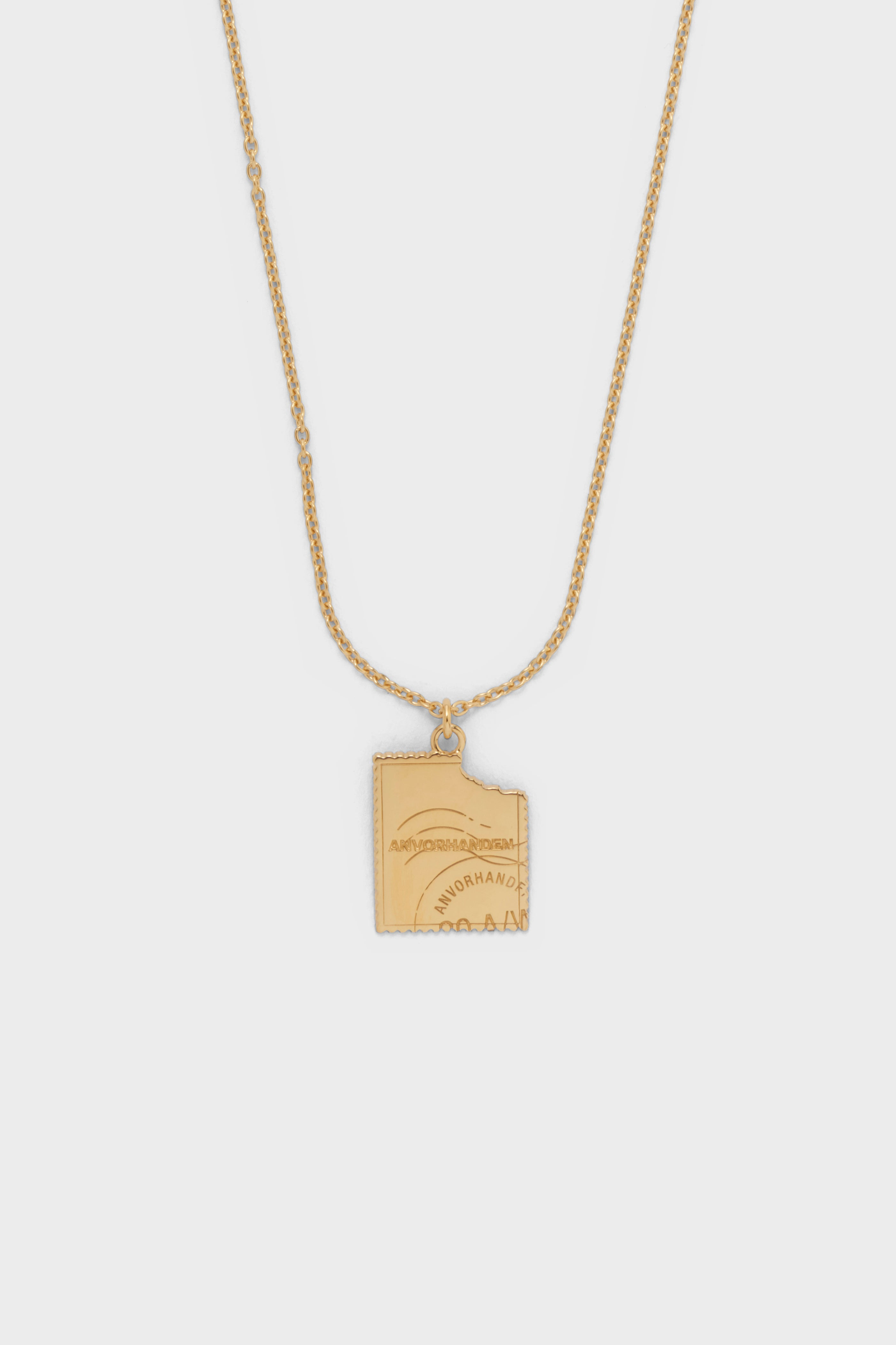 STAMP NECKLACE (GOLD)