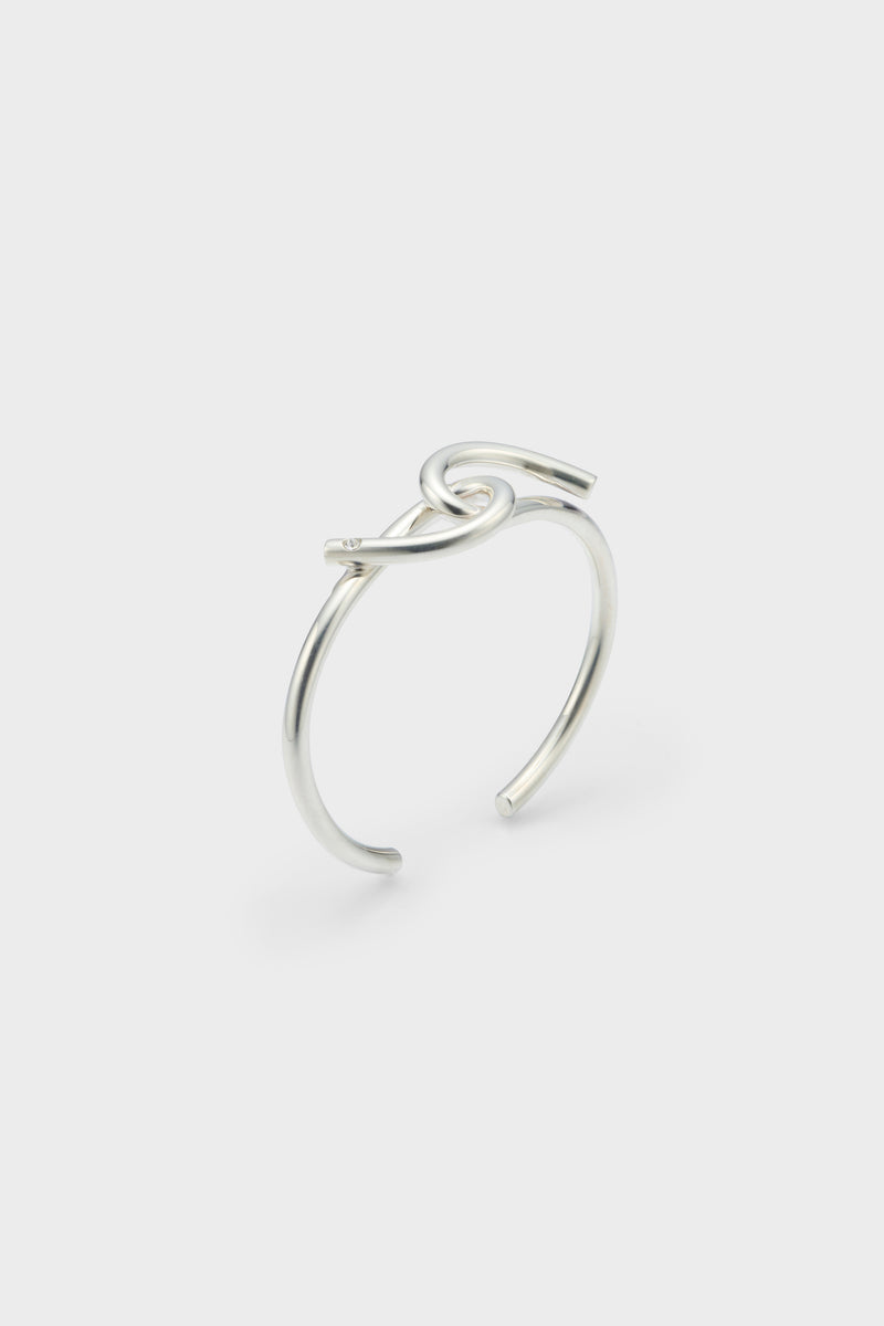 TORSION BANGLE (SILVER)