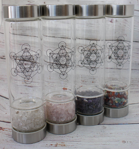 Zenature Infused Crystal Water Bottles