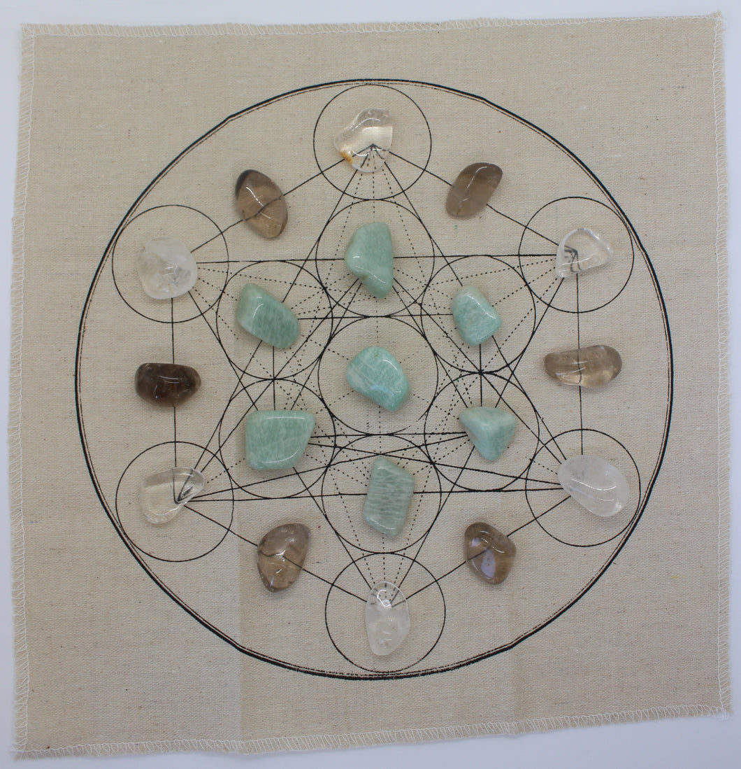 Metatron's Cube Healing Crystal Grid Kit