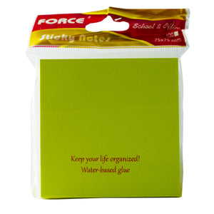 "Force® Notas Adhesivas 3x3"" Neon Verde Force 100H (FC-SN33NG)"