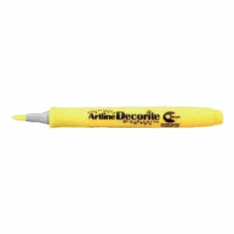 Artline® Decorite Marcador Permanente, Punta Flexible, Amarillo, 12/paquete (EDF-FAM)
