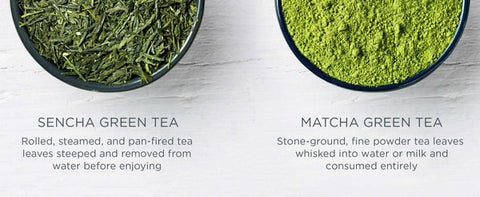 Difference between Sencha and Matcha Green tea