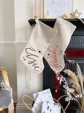 Load image into Gallery viewer, Personalised Christmas Stocking