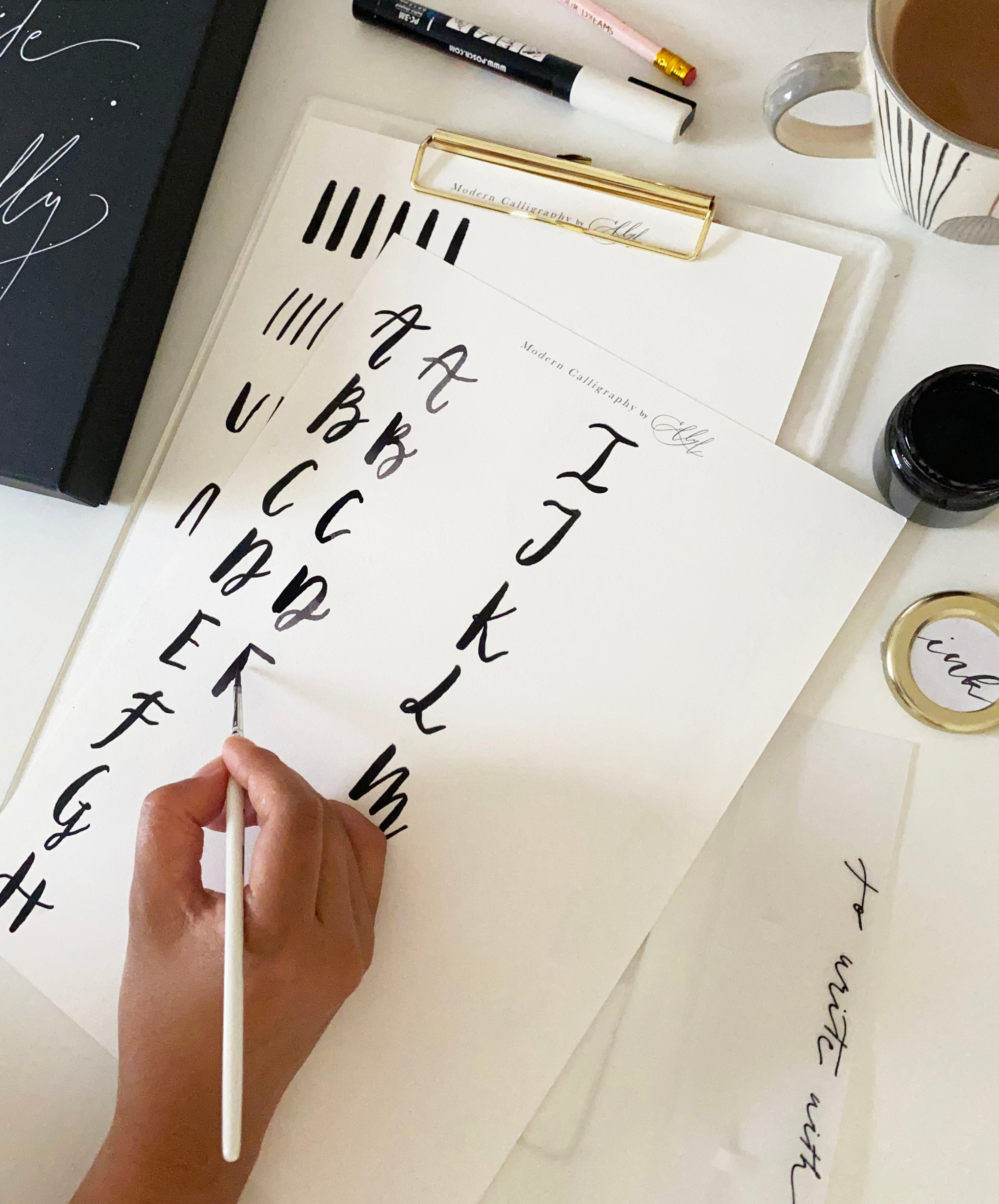 Online Modern Brush Lettering Workshop (without a kit)