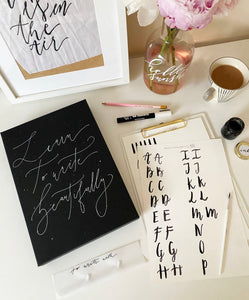 Online Modern Brush Lettering Workshop