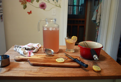 RECIPE: CHAMOMILE-LAVENDER HERBAL LEMONADE