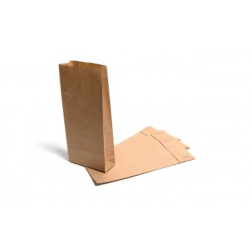 3.5LB Brown Kraft Block Bottom Paper Bags 150mm x 215mm x 310mm