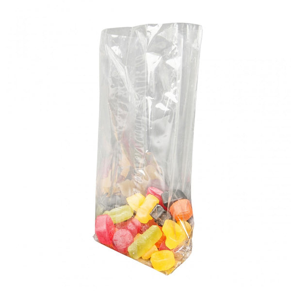 Cellophane Film Bags with Side Gussets and heat sealable