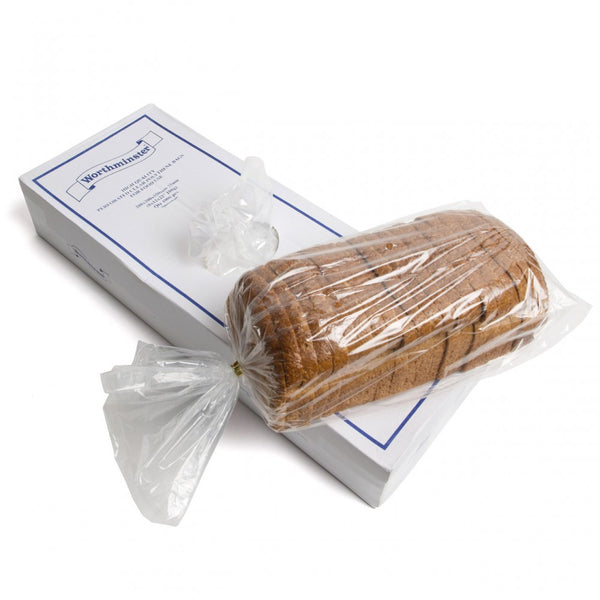 Gussetted Clear Polythene Plastic Bread Food Bags - Economy Pack Quantities