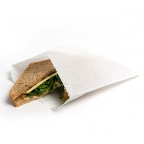 "Greaseproof Paper Bags 215mm x 215mm  8.5"" x 8.5"""