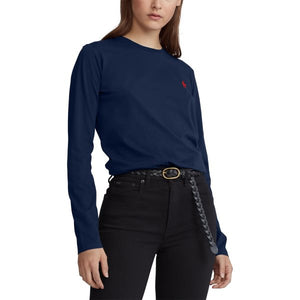 Marine Polo Ralph Lauren T-Shirt Jersey Long-Sleeve Shirt
