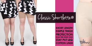 Simple lightweight moisture wicking bikeshort to wear under skirts and dresses