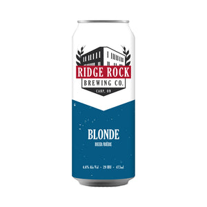Ridge Rock Brewing Co. Blonde, 473ml tall boy can