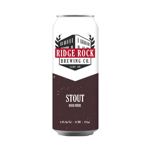 Ridge Rock Brewing Co. Stout, 473ml tall boy can