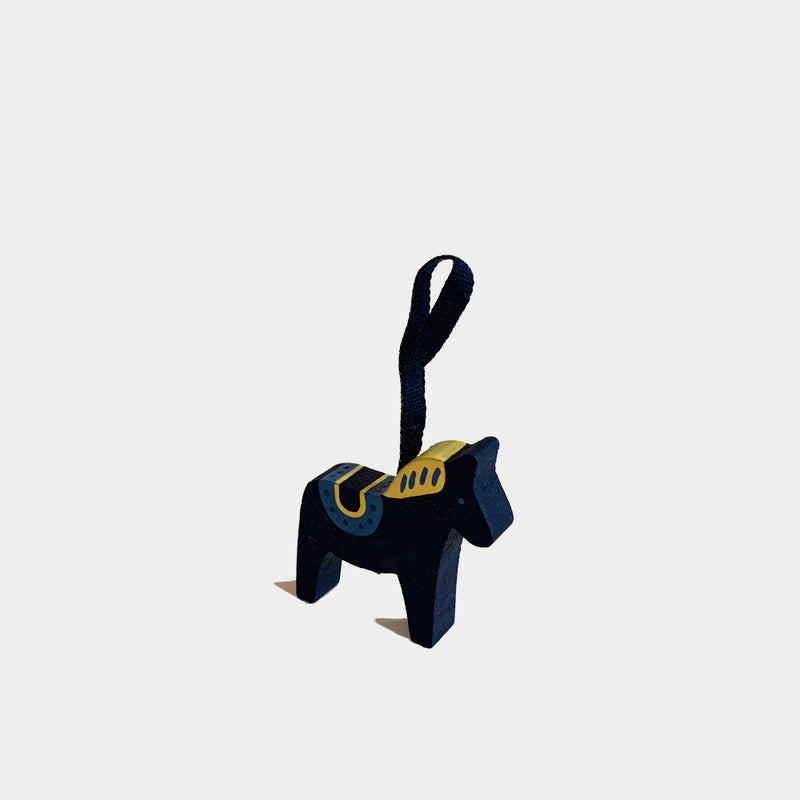 Christmas Decorations Navy Wooden Horse