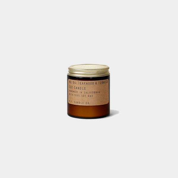 Teakwood & Tobacco Soy Wax Candle