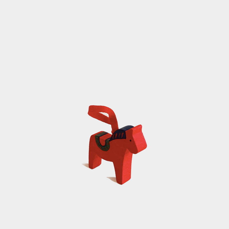 Christmas Decorations Red Wooden Horse