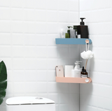 Punch-free bathroom wall-mounted triangle storage rack - The Feelter