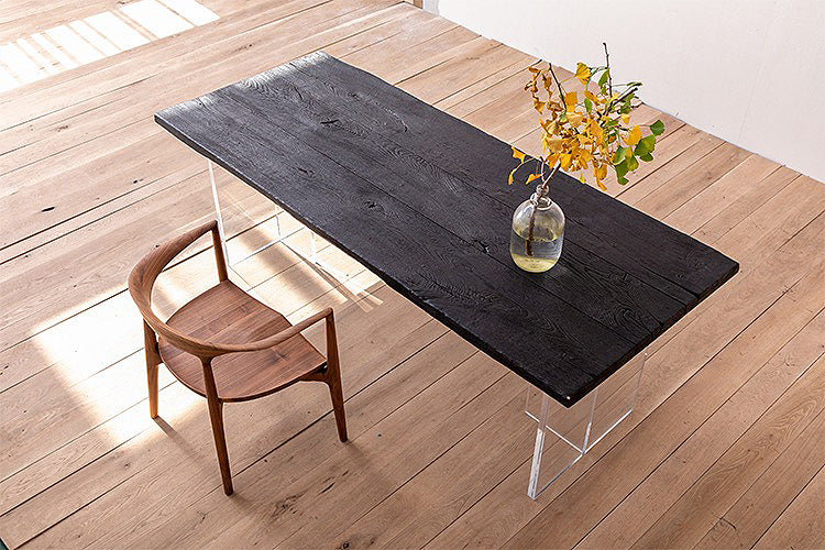 High Temperature Charring French Oak Designer Dining Table